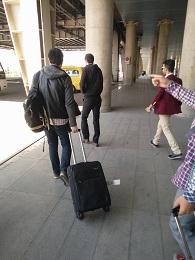 从德黑兰机场出来